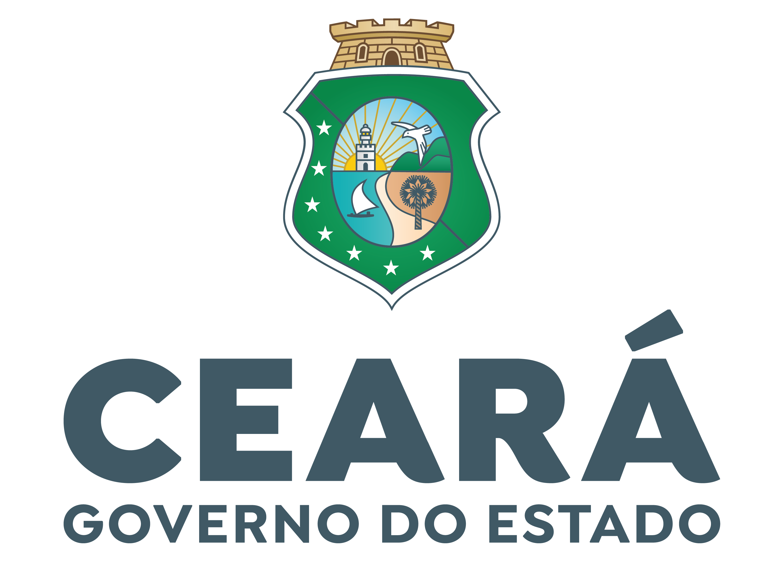 Logotipo Vertical do Governo do Ceará 2021