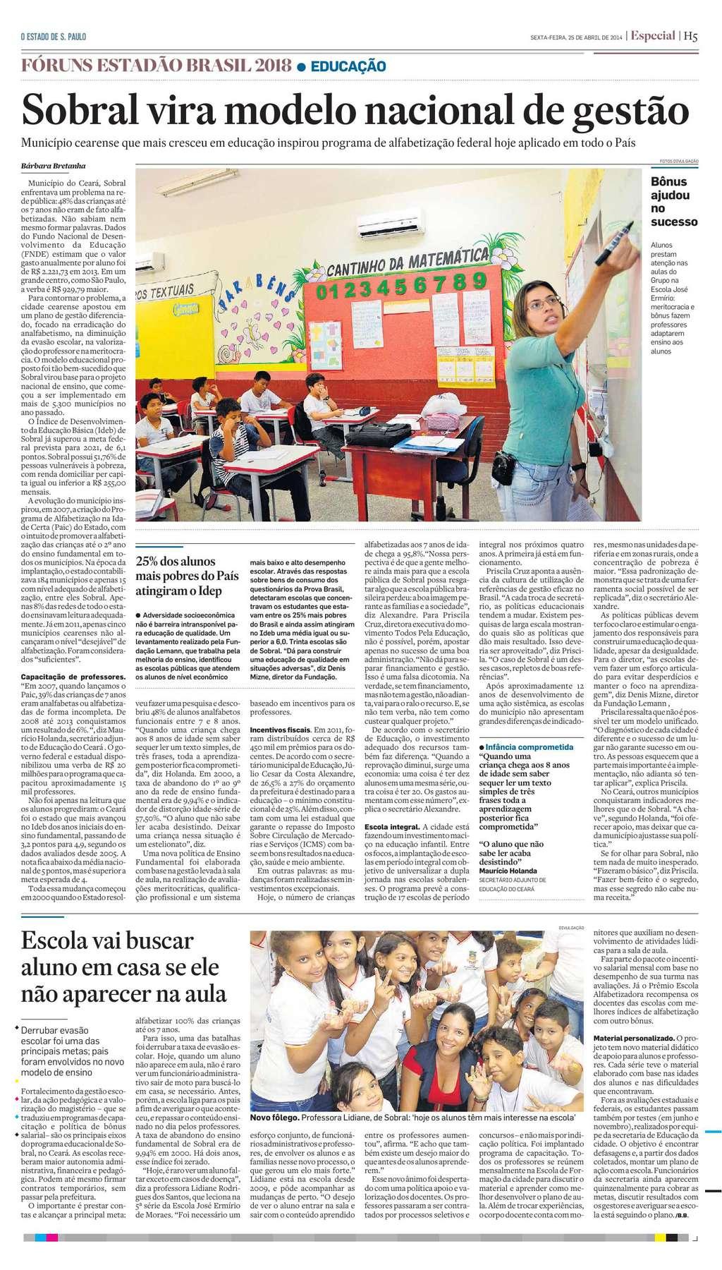 O Estado de S. Paulo - 25.04.14