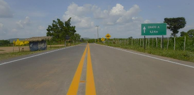 dentro principal estrada