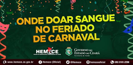 banner onde doar doacao sangue carnaval
