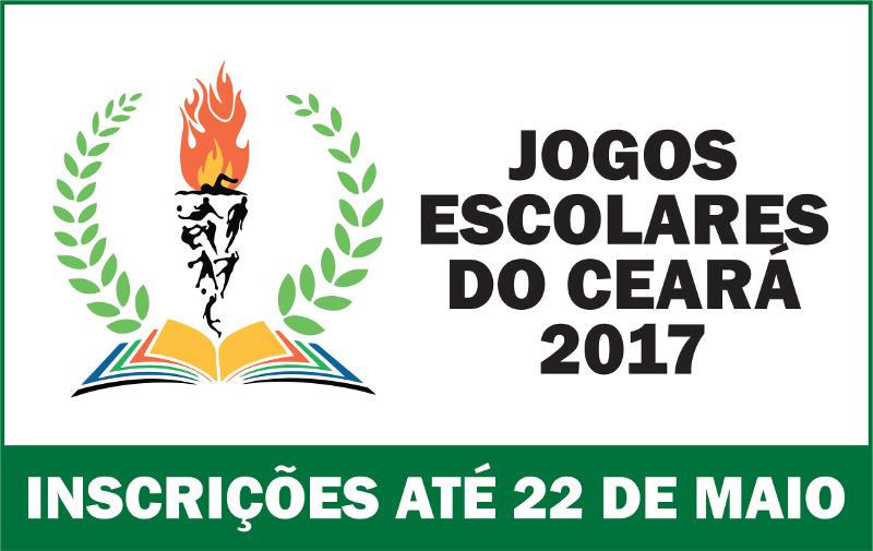 Banner dos jogos escolares do Ceará 2017