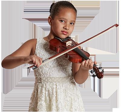 Criança tocando violino