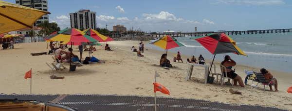 Das 31 praias analisadas pela Semace, 23 apresentam condição de banho