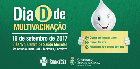 Neste sábado (16), 2.389 postos e salas de vacinação funcionarão em todo o Ceará