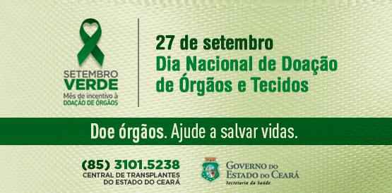 Resultado de imagem para Setembro Verde | Ceará chega aos mil transplantes em 2017