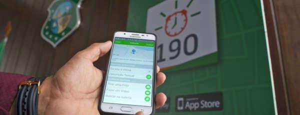 Nos primeiros sete dias de funcionamento da ferramenta virtual, mais de 150 ocorrências foram registradas pela Ciops através de solicitações feitas por celular