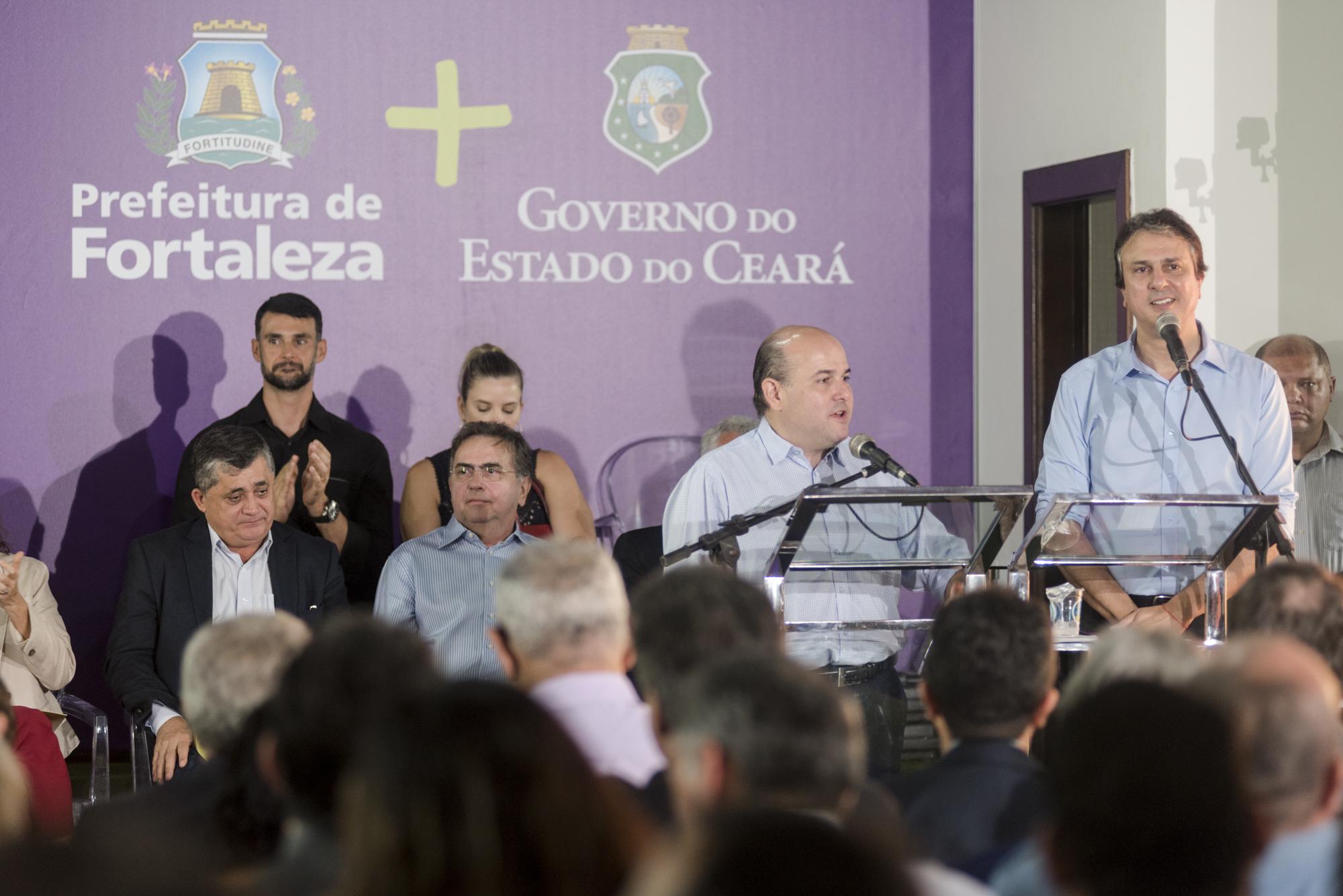 Em apresentação conjunta da parceria, o governador Camilo Santana e o prefeito Roberto Cláudio anunciaram investimentos da ordem de R$ 1,851 bilhão para o primeiro eixo de atuação do plano