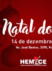 Doadores de sangue comemoram Natal nesta quinta-feira, dia 14