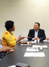Sesporte atende lideranças das comunidades dos Quilombolas