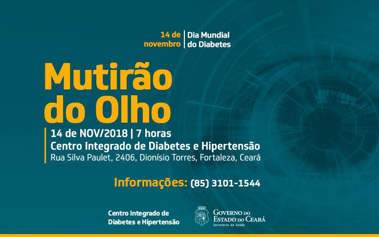 bb16cc0532 Diabetes  mutirão de exame ocular acontece nesta quarta-feira