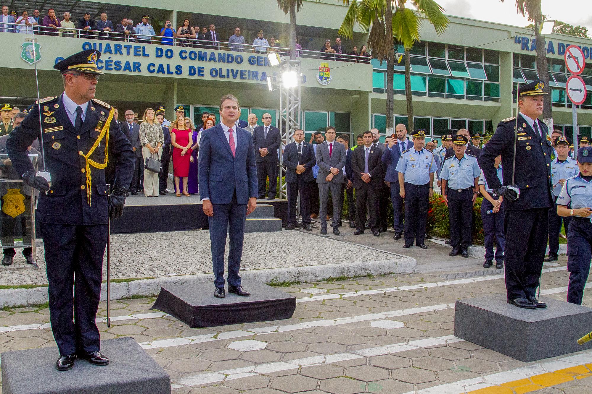 Governador participa de solenidade de mudança de comando na Polícia Militar