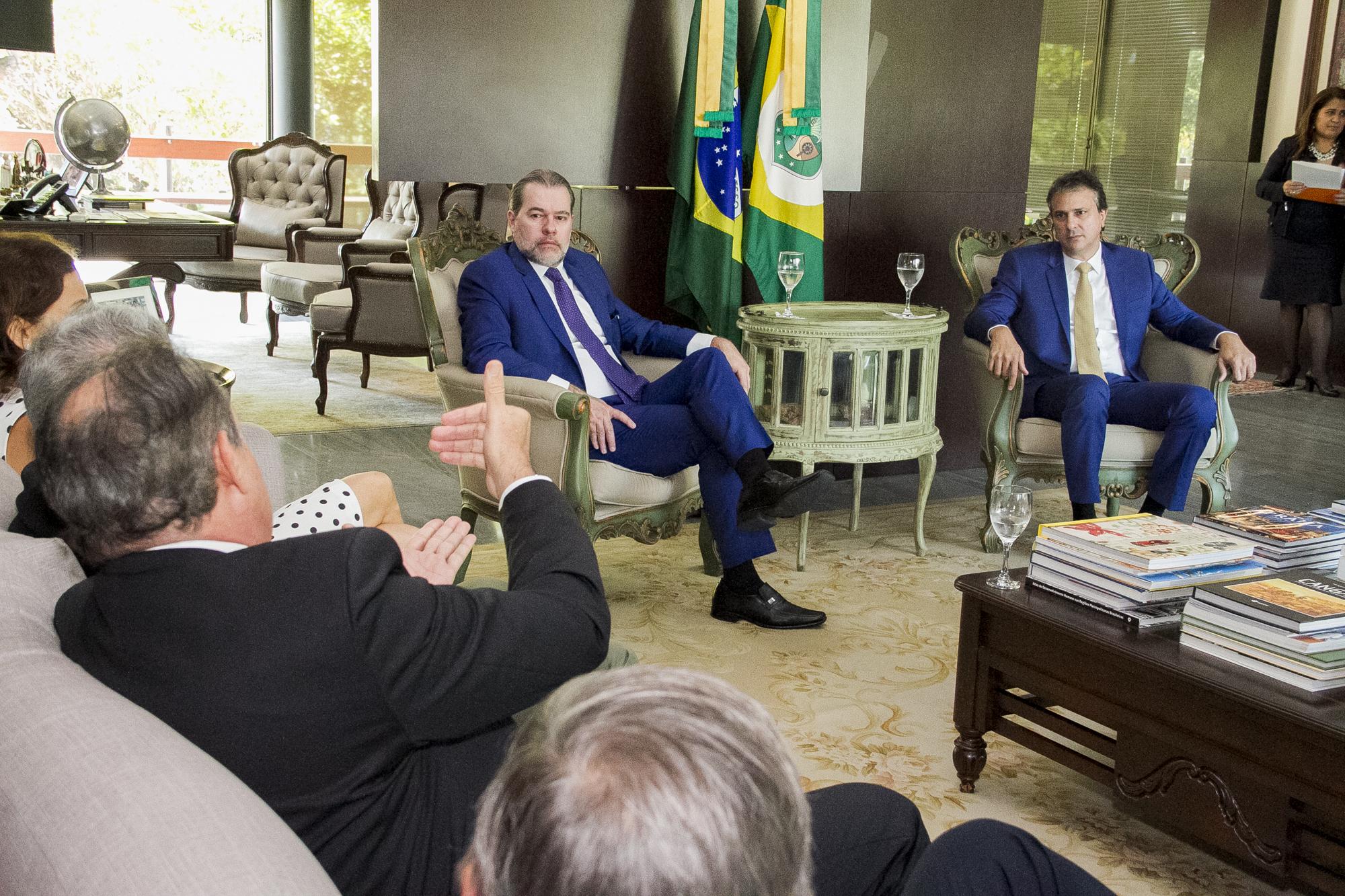Governo do Ceará recebe visita do presidente do Supremo Tribunal Federal