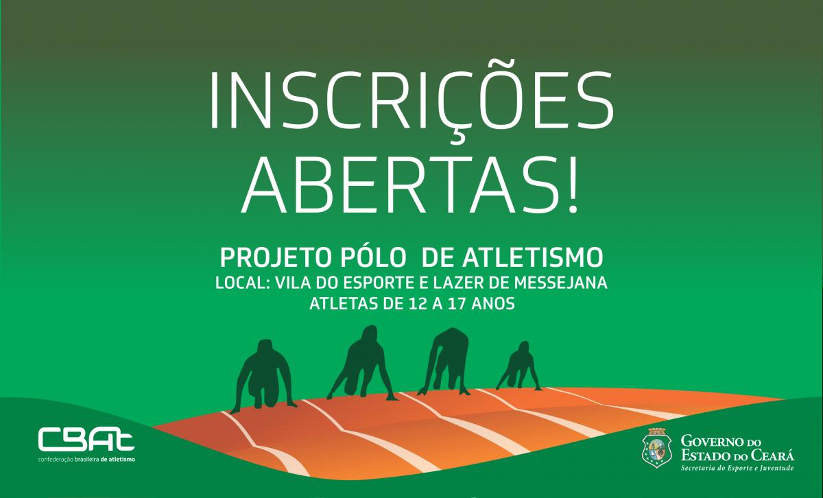 banner das inscrições para o Projeto Pólo de Atletismo