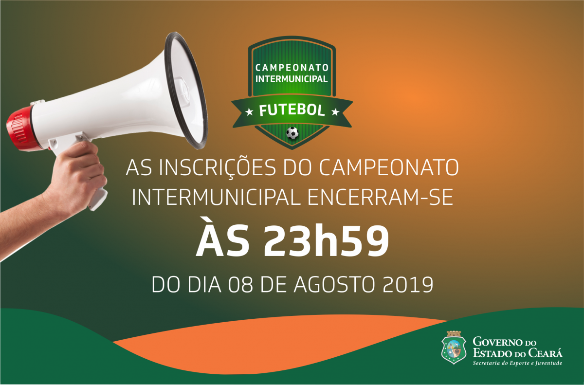 banner Inscrições para o Campeonato Intermunicipal de Futebol 2019