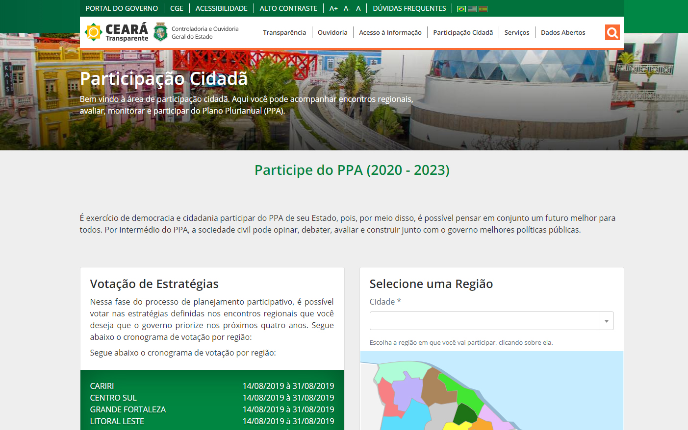 site do ceará transparente