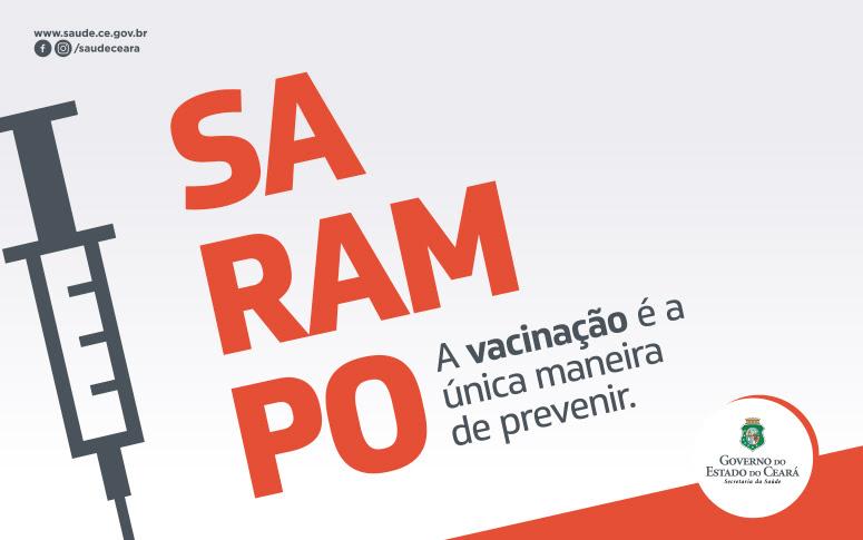 banner prevenção do sarampo