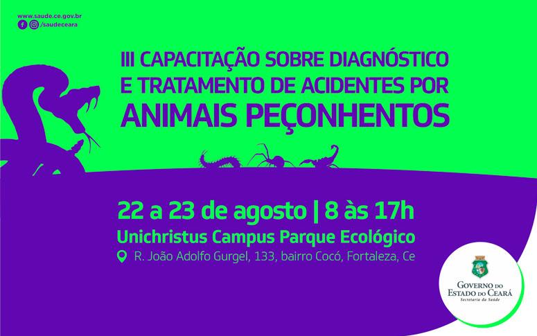 banner capacitação em acidentes por animais peçonhentos