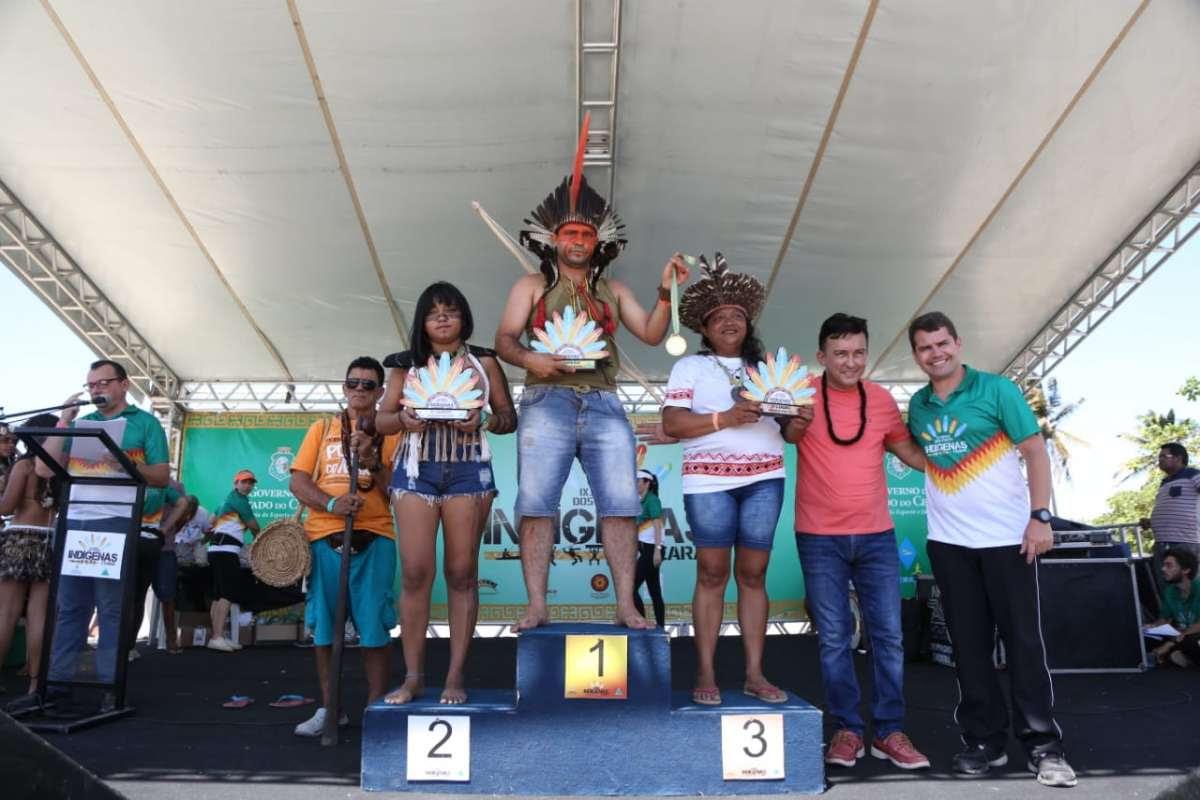 premiação jogos dos povos indígenas
