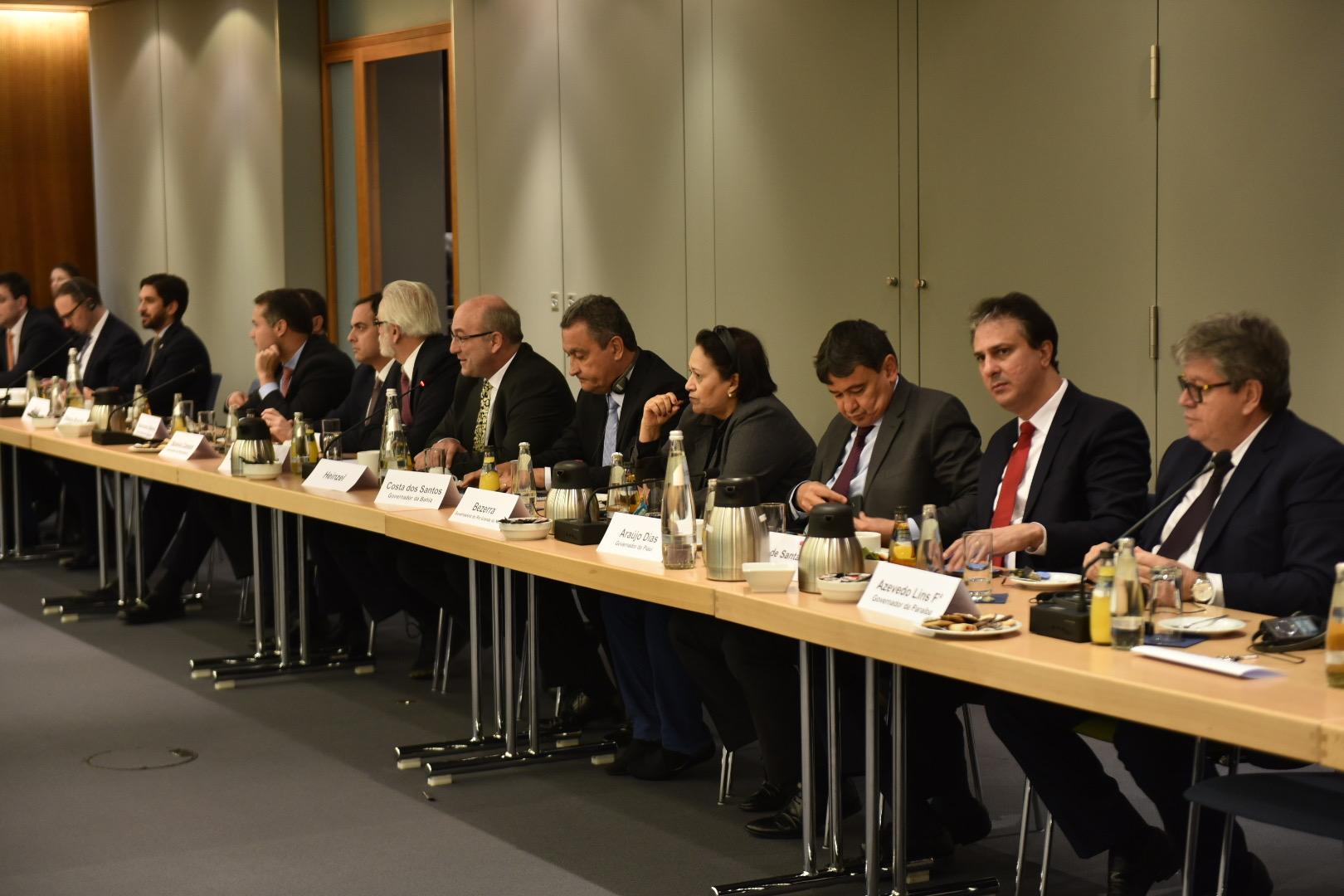 Consórcio Nordeste: governadores apresentam potencialidades da região a empresários alemães