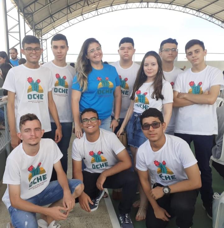 Equipe medalhista na Olimpíada de Ciências Humanas