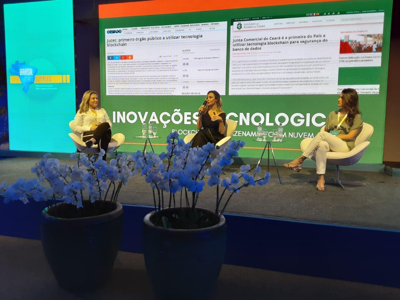 Evento em Santa Catarina onde o modelo de simplificação de abertura de empresas do Ceará foi destaque