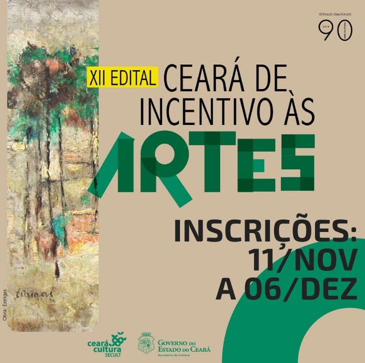 Banner do XII Edital Ceará de Incentivo às Artes