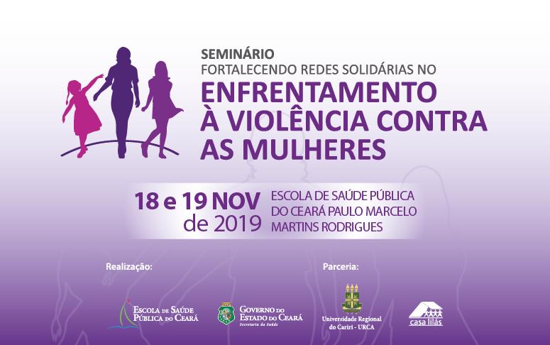 Banner do projeto de atenção à Violência contra a Mulher