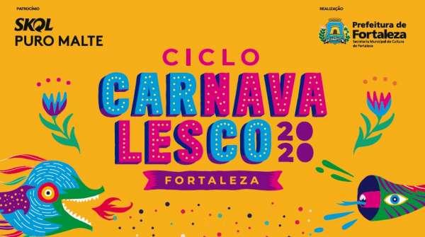 Banner pré-carnaval de fortaleza