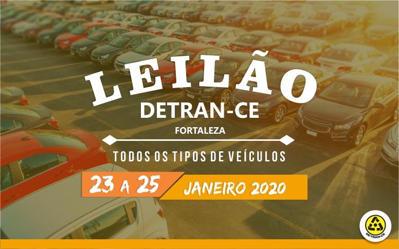 Banner Leilão de Veículos do Detran