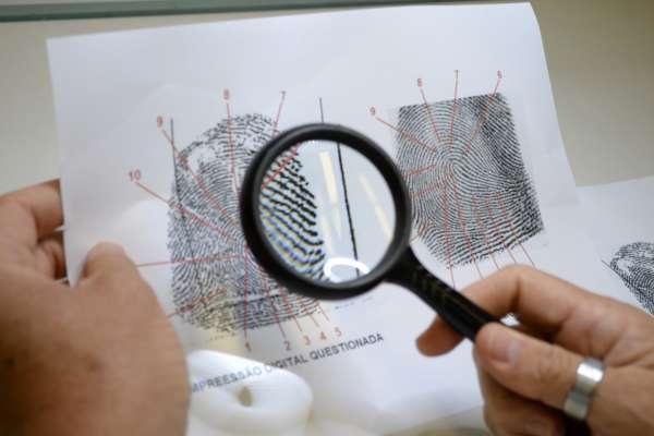 Identificação biométrica realizada pela Pefoce