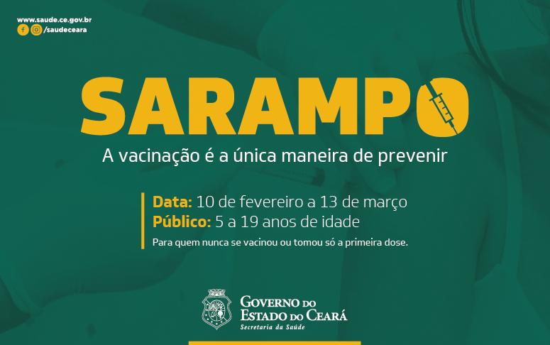Banner de vacinação contra o sarampo