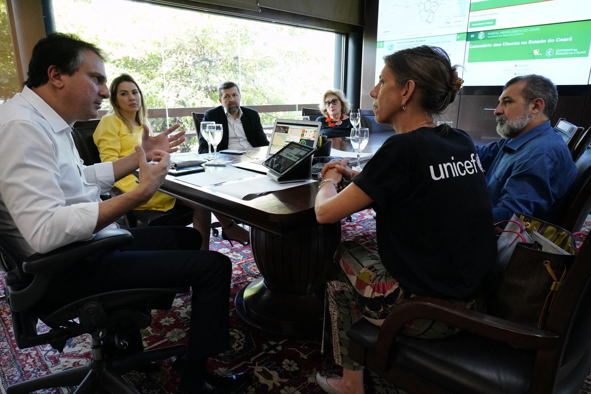 Reunião com o Unicef para firmar acordo