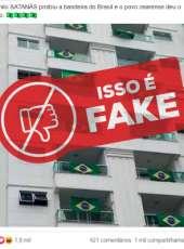 FAKE NEWS – Imagem de sacada de prédio com bandeiras do Brasil não é no Ceará