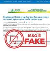 Secretaria da Saúde informa que é falsa a notícia sobre queda no número de casos de Covid-19
