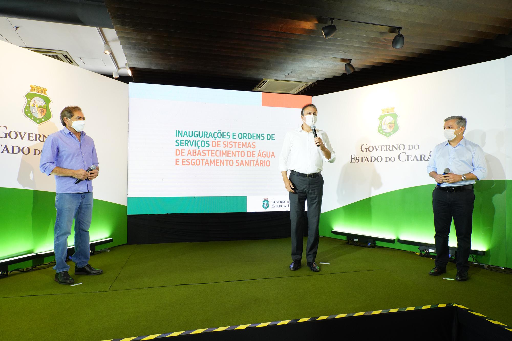 Com investimento de R$ 158 milhões, Governo do Ceará inaugura obras e autoriza novos sistemas de abastecimento d'água e esgoto