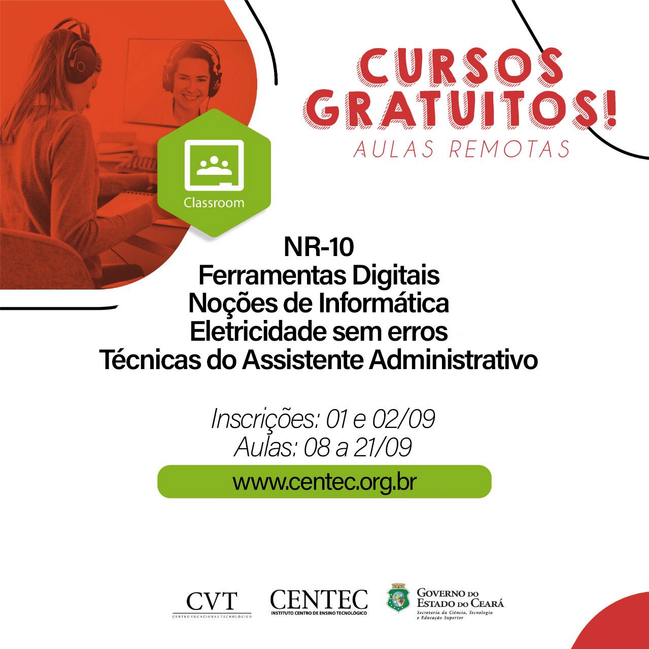 Centec Oferece 400 Vagas Em Cursos Online Gratuitos Governo Do Estado Do Ceara