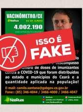 Antifake: Mensagem de WhatsApp desinforma sobre andamento da Imunização contra Covid-19 no Ceará