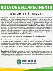 Esclarecimento sobre Fake News envolvendo o Programa Ceará Educa Mais