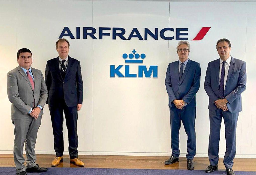 Governador se reúne com Air France/KLM e negocia ampliação de voos diretos para o Ceará